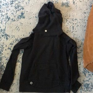 SoulCycle black hooded sweatshirt sz m